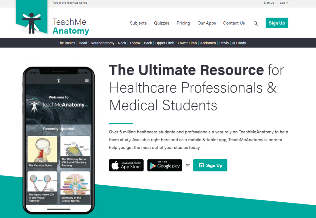 Best Free Anatomy Websites For Medical Students: TeachMe Anatomy